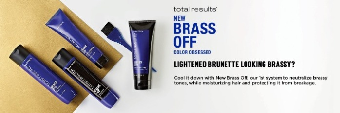 Matrix Total Results Brass off Холодный Блонд