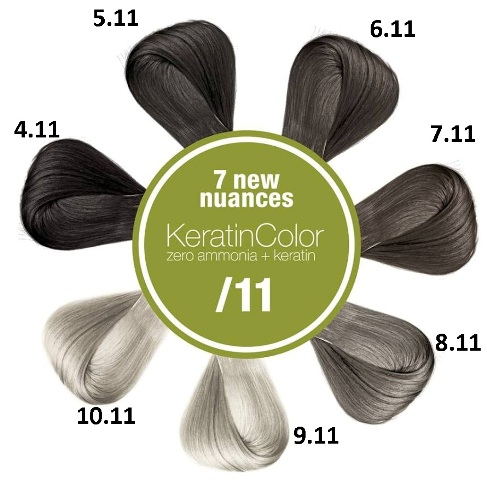 Новинки в краске BBCOS Keratin Color одиннадцатый ряд
